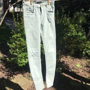 Seafoam Green Jeans